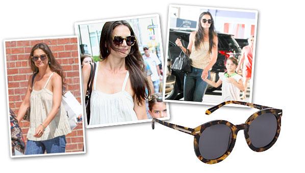 db89f81c261 Katie Holmes Really Loves These Karen Walker Super Duper Strength Sunglasses