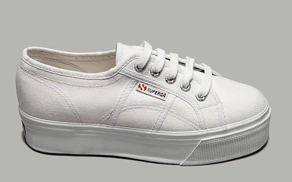 Superga White Platform Sneakers - SHEfinds