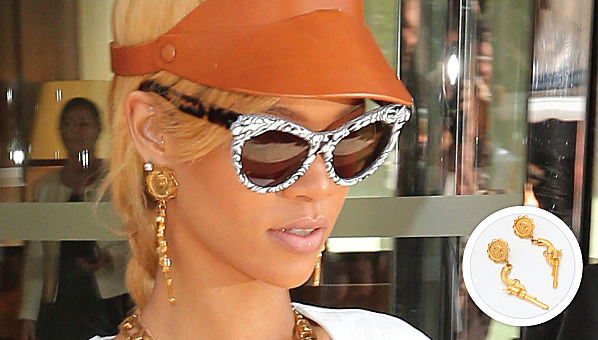 hadid rihanna on as ringsadgigi chanel ring earrings and gigi famous more gold logo seen