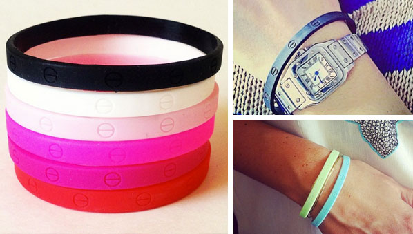 These Rubber Wristbands Are Giving Us Serious Deja Vu Of Cartier Love Bracelets