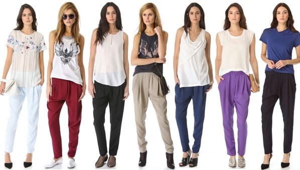 How to wear harem pants 2013
