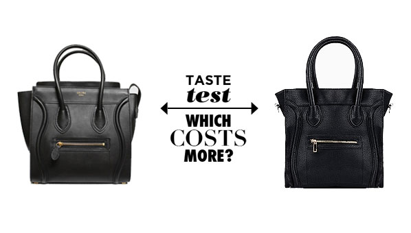 Celine Micro Black Leather Luggage Bag Tote | On The Go Structured ...