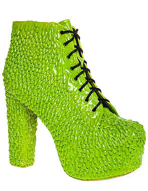 fc922416fe1 Worst Lita  Jeffrey Campbell The Lita Drip Shoe in Green Slime ( 215)