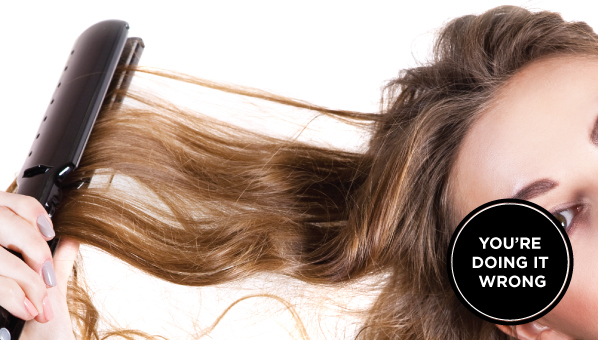 You're Doing It Wrong: Straightening Your Curly Hair