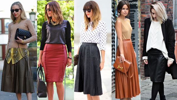 Leather Skirts | Long Leather Skirt Trend | Leather Pencil Skirts