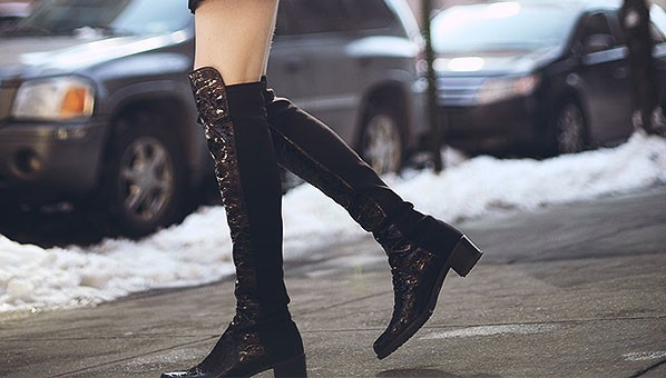 Stretch back boots stretch boots boots with stretch for Franco sarto motor over the knee boots