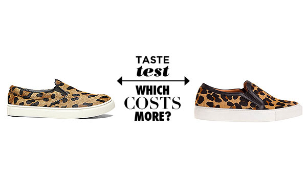 88184cc667d Can You Tell Which Leopard Print Slip-On Sneaker Costs  325 More Than The  Other