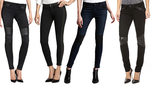 60% discount new release color brilliancy Denim with Leather Accents | Denim and Leather Trend | Jeans ...
