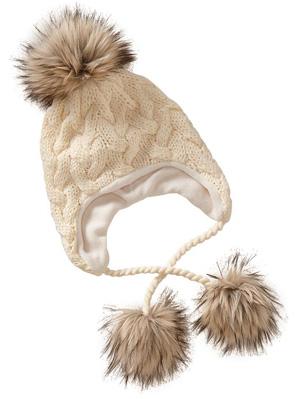 Women's Pom-Pom Cable-Knit Beanies