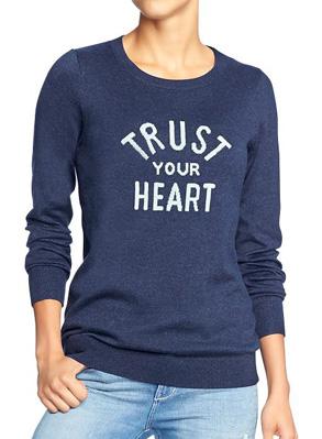 Women's Printed Crew-Neck Sweaters