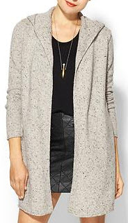 Autumn Cashmere Open Hoodie Duster