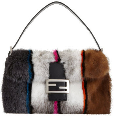 Fendi Colorblock Mink Baguette Bag