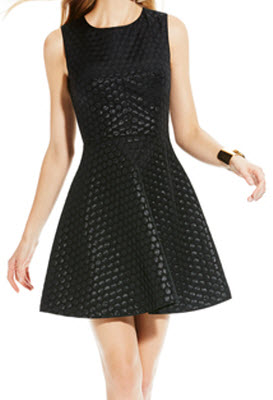 Vince Camuto Sleevelss Dot Party Dress
