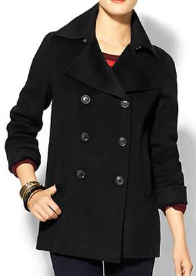 Vince Double Face Wool Peacoat