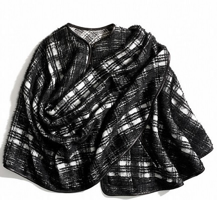 Coach Plaid Wrap Cape