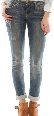 Jet by John Eshaya Scratch Fade Skinny Jeans