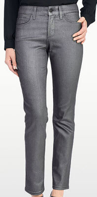 NYDJ Sheri Skinny in Matte Hematite Coated Denim