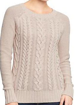 Olivia Palermo Sweater | Old Navy Cable Knit Crew Sweater