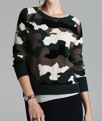 aqua camo intarsia sweater