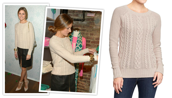 17fd9bc097c Olivia Palermo just has a way of making everything she wears looks super  expensive and fancy. So imagine our surprise to find out this sweater she  recently ...