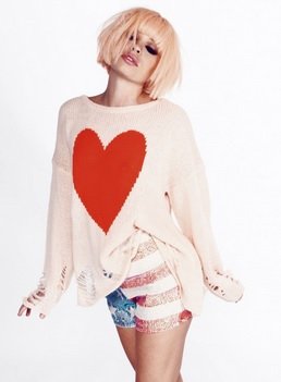 wildfox lennon heart sweater
