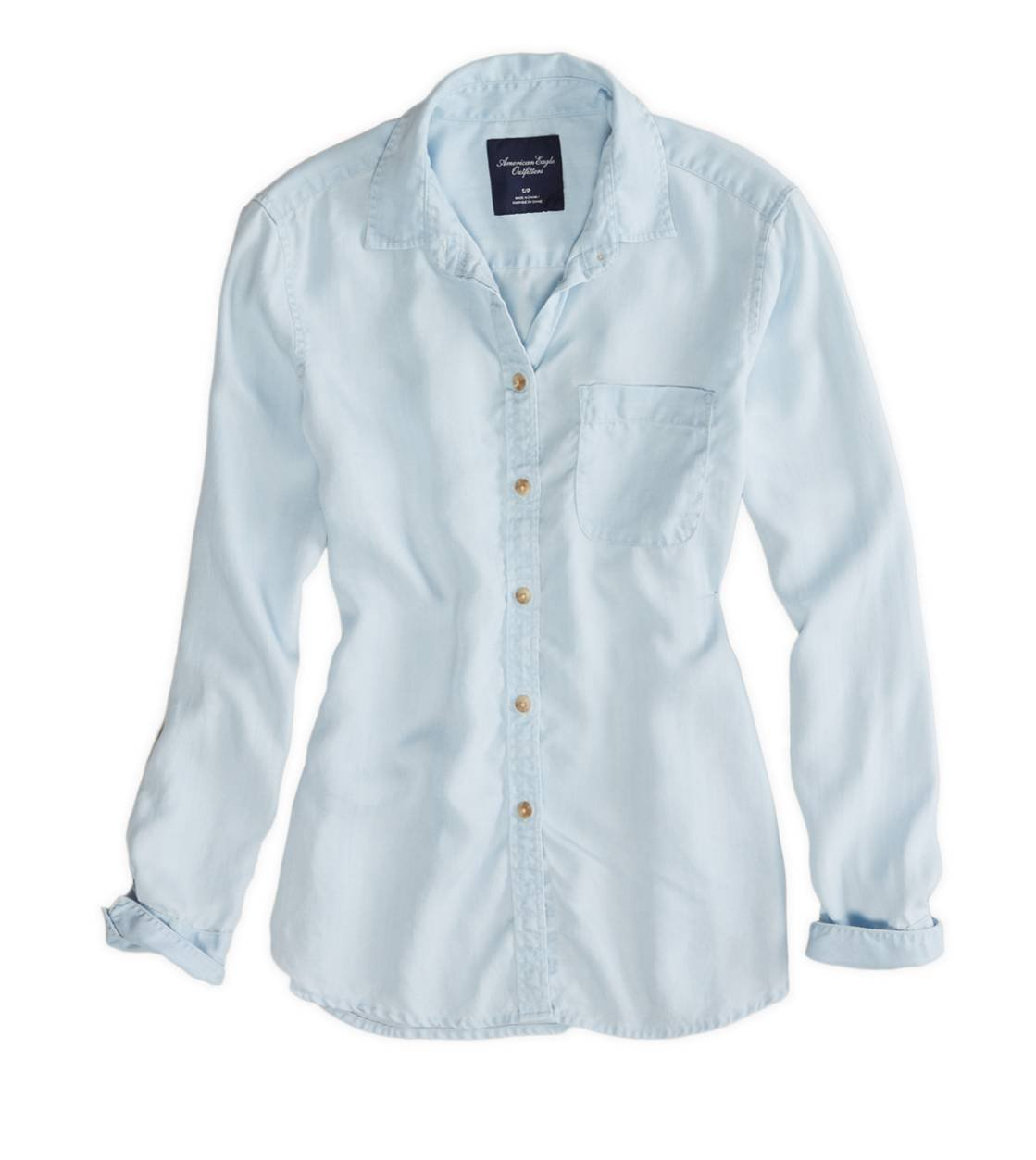 AE BOYFRIEND CHAMBRAY SHIRT
