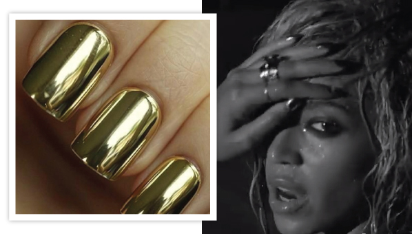 Beyonce Gold Nails Beyonce Drunk In Love Nails Minx Nail Wraps
