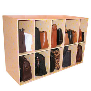 Park-a-Purse 10 Cubbies Closet Organizer