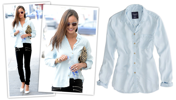 9df48ad6e81b What girl doesn t love a good chambray shirt  It s the ultimate go-to top  for those lazy days when you just want to throw something on but still look  like ...