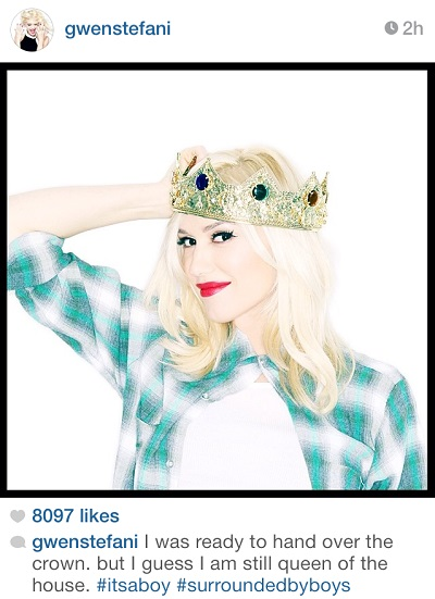 gwen stefani instagram announcement