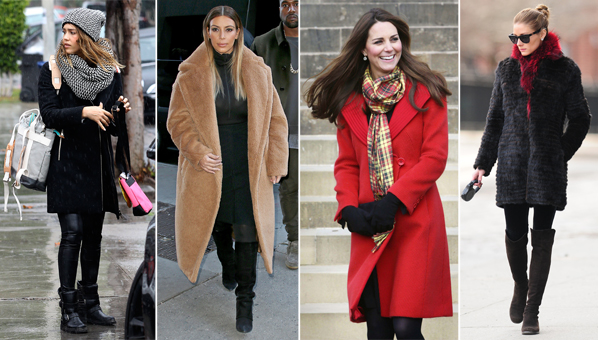 Celebrity Cold Weather Looks Celeb Winter Style