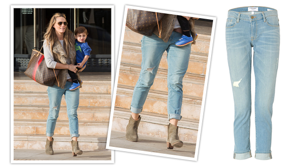 Molly Sims Jeans | Frame Denim Le Garcon Jeans in Kanan