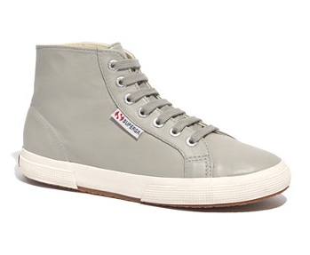 2095 High-Top Leather Sneakers In Mint