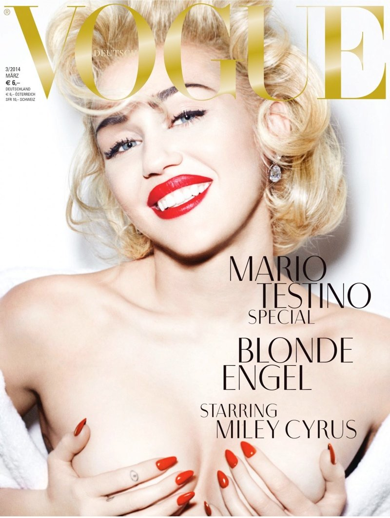 Miley Cyrus Topless German Vogue