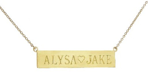 Jennifer Meyer Nameplate Necklace