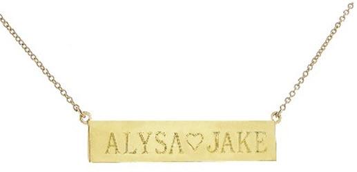 Jennifer Meyer Nameplate Necklace