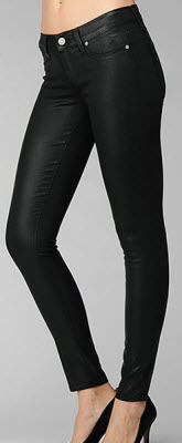 Paige Denim Verdugo Ultra Skinny Black Silk Coating Jean