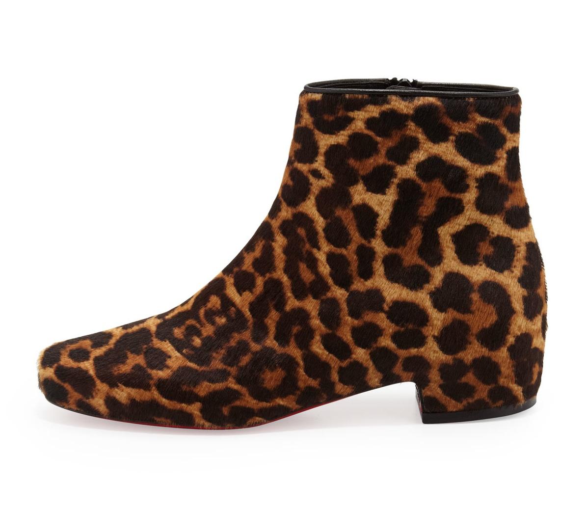 Tounoir Leopard Print Calf Hair Bootie