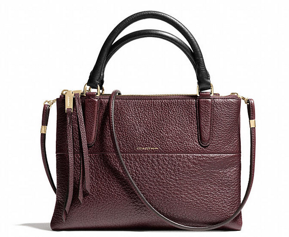 Coach Mini Borough Bag in Pebbled Leather