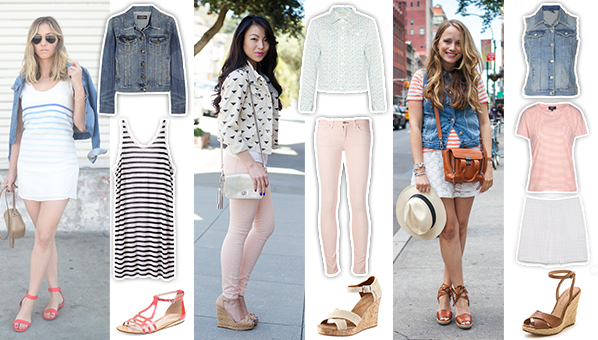 ef0d1bba8357 3 Different Ways To Wear A Denim Jacket, As Styled By Your Favorite Bloggers