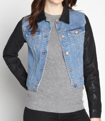 J Brand Medium Wash and Black Bowie Jean Jacket