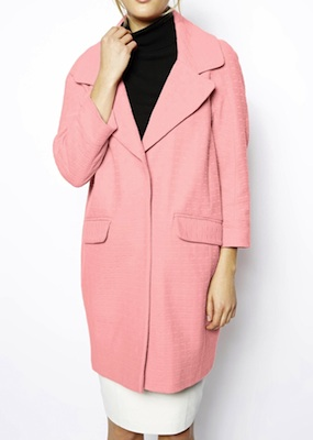 Kourtney Kardashian ASOS Textured Coat