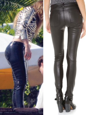 Big ass leather pants well understand