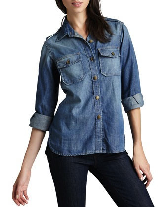 Current Elliot Perfect Denim Shirt
