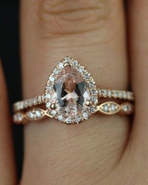 Diamond and Vintage Sapphire Ballerina Antique Engagement Ring