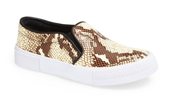 The Blonde Salad x Steve Madden 'NYC' Snake Embossed Leather Platform Sneaker