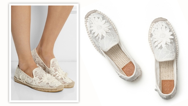 07ba5aebac8 Are These Tory Burch Lace Espadrilles The New TOMS Crochet Flats For Brides