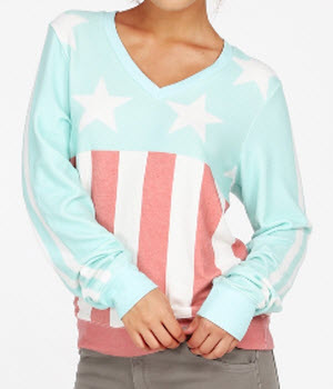 Wildfox Stars and Stripes Baggy Beach Jumper