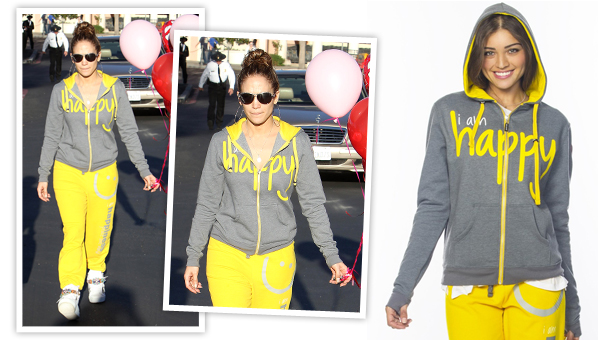 Take A Cue From Jennifer Lopez And Send A Big Eff You To Seasonal Affective Disorder By Rocking This Peace Love World I Am Happy Hoodie