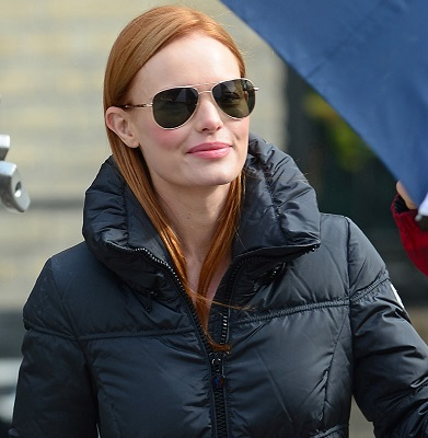 Kate Bosworth, Alec Baldwin & Julianne Moore on set of 'Still Alice' in NYC